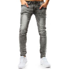 BASIC Šedé pánské džínové kalhoty (ux1788) Velikost: 28