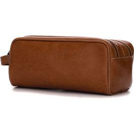Kosmetická kožená hnědá taška SOLIER (SK02 VINTAGE BROWN) Velikost: univerzální