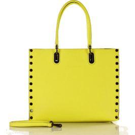 Žlutá kabelka MAZZINI se cvočky (384d) Velikost: univerzální