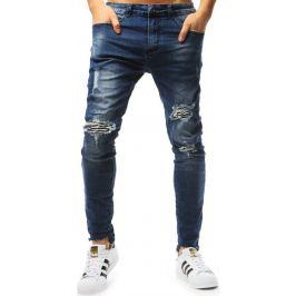 BASIC Tmavě modré pánské džínové kalhoty (ux1804) Velikost: 28