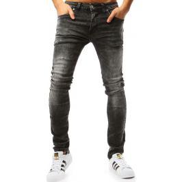 BASIC Grafitové pánské džínové kalhoty (ux1805) Velikost: 30