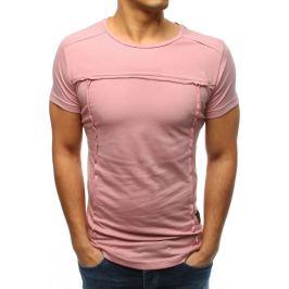 BASIC Růžové pánské tričko (rx3362) Velikost: S