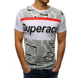 BASIC Bílé pánské tričko s potiskem (rx3364) Velikost: M