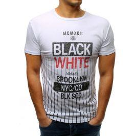 BASIC Bílé pánské tričko s potiskem (rx3370) Velikost: M