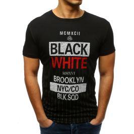 BASIC Černé pánské tričko s potiskem (rx3372) Velikost: M