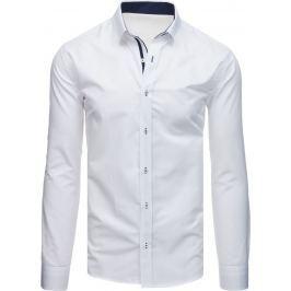 BASIC Bílá pánská košile (dx1714) Velikost: L