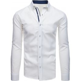 BASIC Bílá pánská košile (dx1716) Velikost: XL