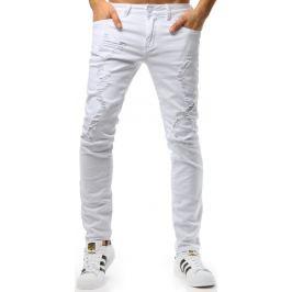 BASIC Bílé pánské kalhoty (ux1810) Velikost: 28