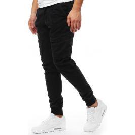 BASIC Černé pánské jogger kalhoty (ux1824) Velikost: 34