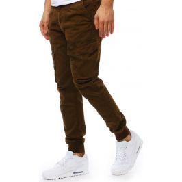 BASIC Hnědé pánské jogger kalhoty (ux1828) Velikost: 30