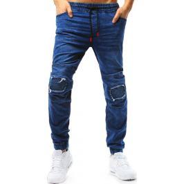 BASIC Modré pánské jogger kalhoty (ux1771) Velikost: M