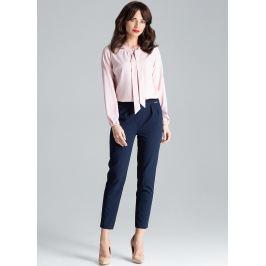 LENITIF Tmavě modré elegantní kalhoty - L028 Velikost: S