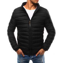 BASIC Pánská černá bunda bez kapuce (tx1708) velikost: 2XL, odstíny barev: černá