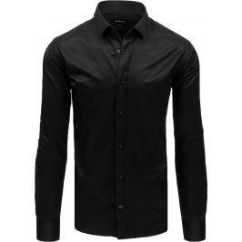 BASIC Pánská košile s dlouhými rukávy - černá (dx1735) Velikost: XL