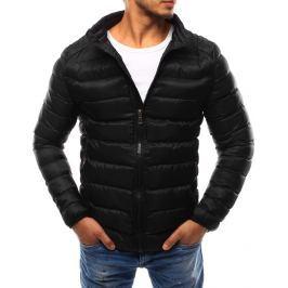 BASIC Pánská černá bunda bez kapuce (tx1733) velikost: 2XL, odstíny barev: černá