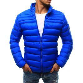 BASIC Pánská modrá bunda bez kapuce (tx1739) velikost: 2XL, odstíny barev: modrá