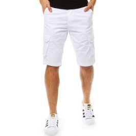 BASIC Bavlněné bílé šortky (sx0776) Velikost: 28