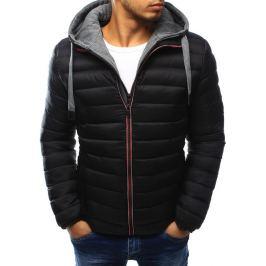 BASIC Pánská černá bunda s kapucí (tx1814) Velikost: 2XL