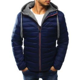 BASIC Pánská modrá bunda s kapucí (tx1815) Velikost: 2XL