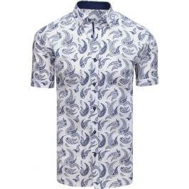 BASIC Bílá elegantní pánská košile (kx0866) Velikost: M