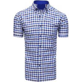 BASIC Bílo-modrá pánská košile (kx0870) Velikost: M