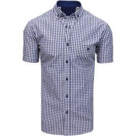 BASIC Bílo-modrá pánská košile (kx0872) Velikost: M