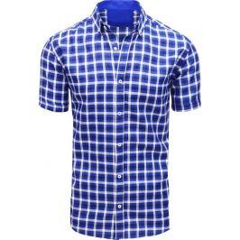 BASIC Bílo-modrá pánská košile (kx0873) Velikost: M