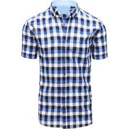 BASIC Bílo-modrá pánská košile (kx0875) Velikost: M
