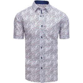 BASIC Bílá vzorovaná pánská košile (kx0876) Velikost: M