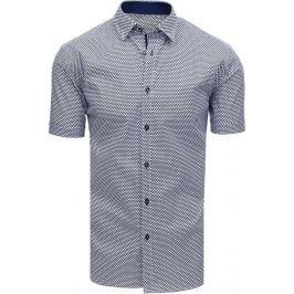 BASIC Modrá vzorovaná pánská košile (kx0889) Velikost: XL