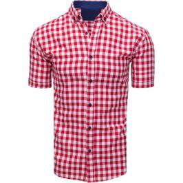 BASIC Červenobílá pánská košile (kx0890) Velikost: L