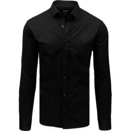 BASIC Černá pánská košile (dx1727) Velikost: 2XL