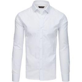 BASIC Bílá pánská košile (dx1733) Velikost: XL
