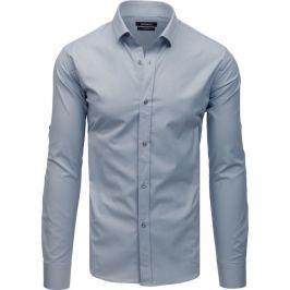 BASIC Šedá pánská košile (dx1734) Velikost: M