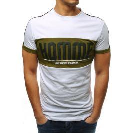 BASIC Bílé pánské tričko s potiskem (rx3373) Velikost: L