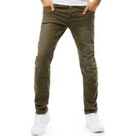 BASIC Pánské džínové kalhoty khaki (ux1858) Velikost: 29