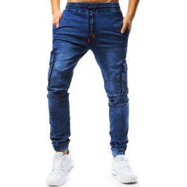 BASIC Modré pánské jogger kalhoty (ux1773) Velikost: XL