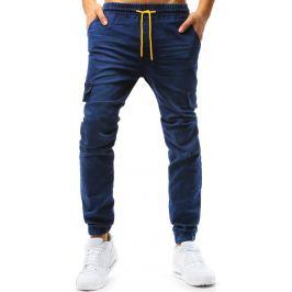 BASIC Modré pánské jogger kalhoty (ux1776) Velikost: M