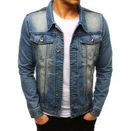 BASIC Modrá pánská džínová bunda (tx2645) Velikost: S
