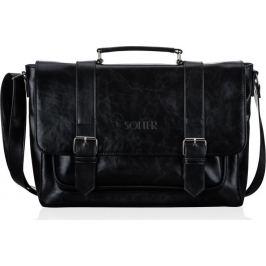 Elegantní pánská černá taška na notebook SOLIER (S25 BLACK) Velikost: univerzální