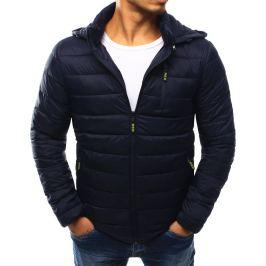 BASIC Modrá prošívaná bunda s kapucí (tx1812) Velikost: XL