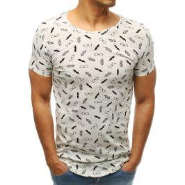 BASIC Bílé pánské tričko s potiskem (rx3421) Velikost: M