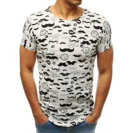 BASIC Bílé pánské tričko s potiskem (rx3444) Velikost: M