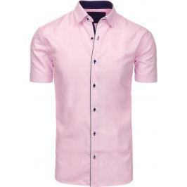BASIC Elegantní růžová košile (kx0749) Velikost: M