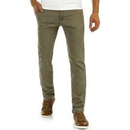 BASIC Elegantní khaki kalhoty (ux0877) Velikost: 29