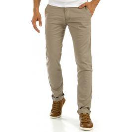 BASIC Elegantní cappuccino kalhoty (ux0879) Velikost: 30