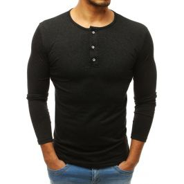 BASIC Antracitové tričko s dlouhým rukávem (lx0403) Velikost: M