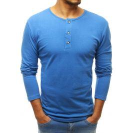 BASIC Modré tričko s dlouhým rukávem (lx0407) Velikost: M