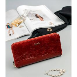 ROVICKY Dámská červená kožená peněženka se vzorem RFID PIÓRNIK 8807 Velikost: univerzální