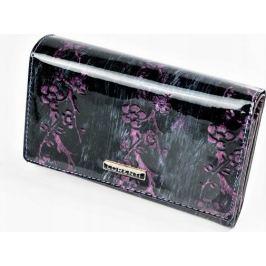 Lorenti peněženka s fialovým květinovým motivem 76112 Velikost: univerzální